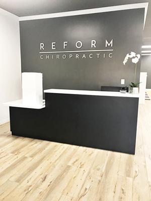 Chiropractic Downey CA Reform Chiropractic Receptionist Desk